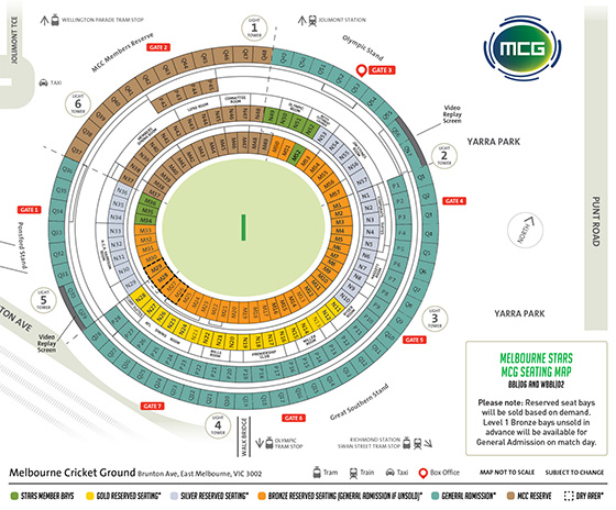 MCG Seating Map